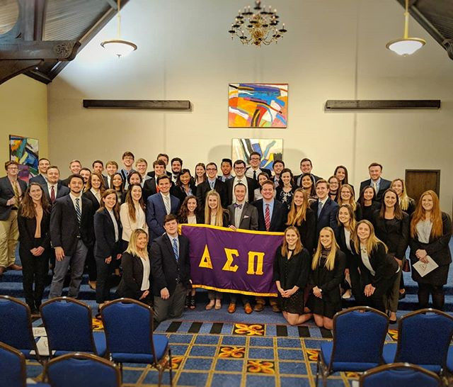The Beta Sigma chapter initiated 18 fine