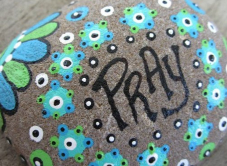 Family Prayer Rock Painting