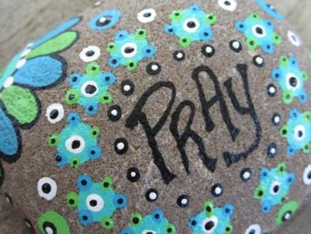 Family Prayer Rock Painting