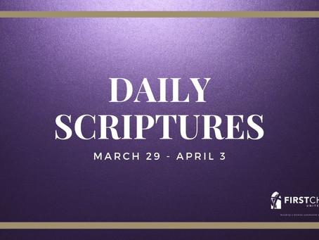 Daily Scriptures - Saturday, April 3
