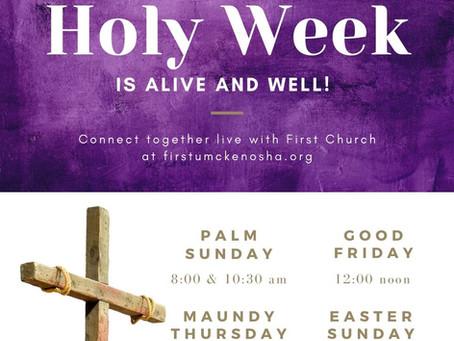 Holy Week 2020 @ First Church Kenosha