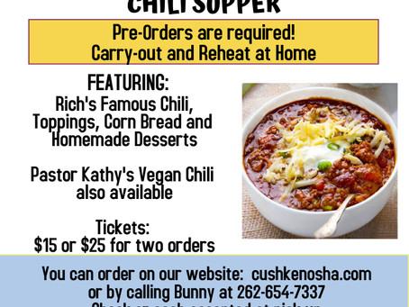 CUSH Chili Dinner