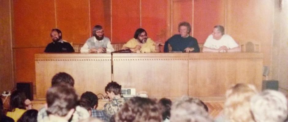 "cu Vasile Andru, Patrick Tomatis, Jean-Pierre Laffez, la Seminarul de vara ""Isihasm si Yoga"" -  Campulung Moldovenesc (1994)"