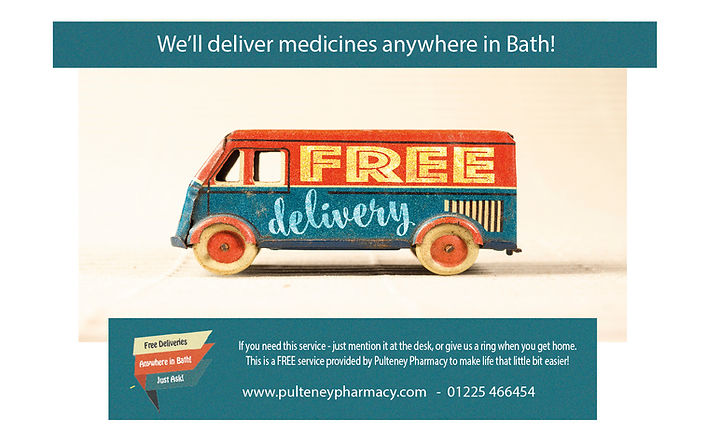 Pulteney Pharmacy Delivery Advert June 2