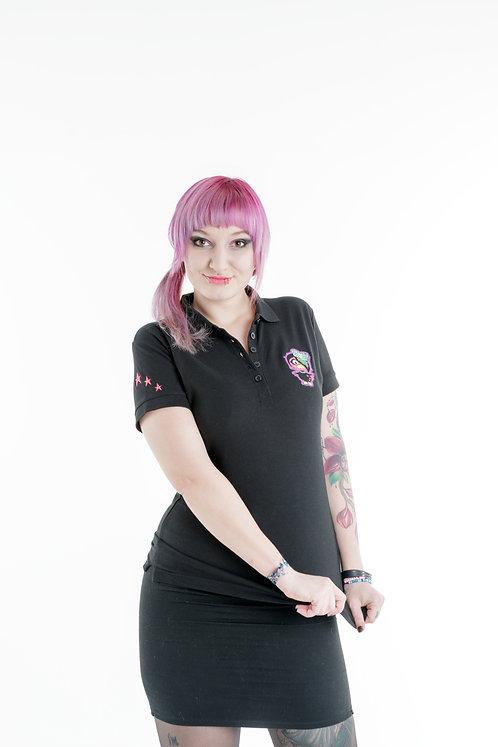 Poloshirt / Black / Schwarz / Pink / Emo / Gothic / Fashion / Streetwear / Lylliyandt / Dani D Art