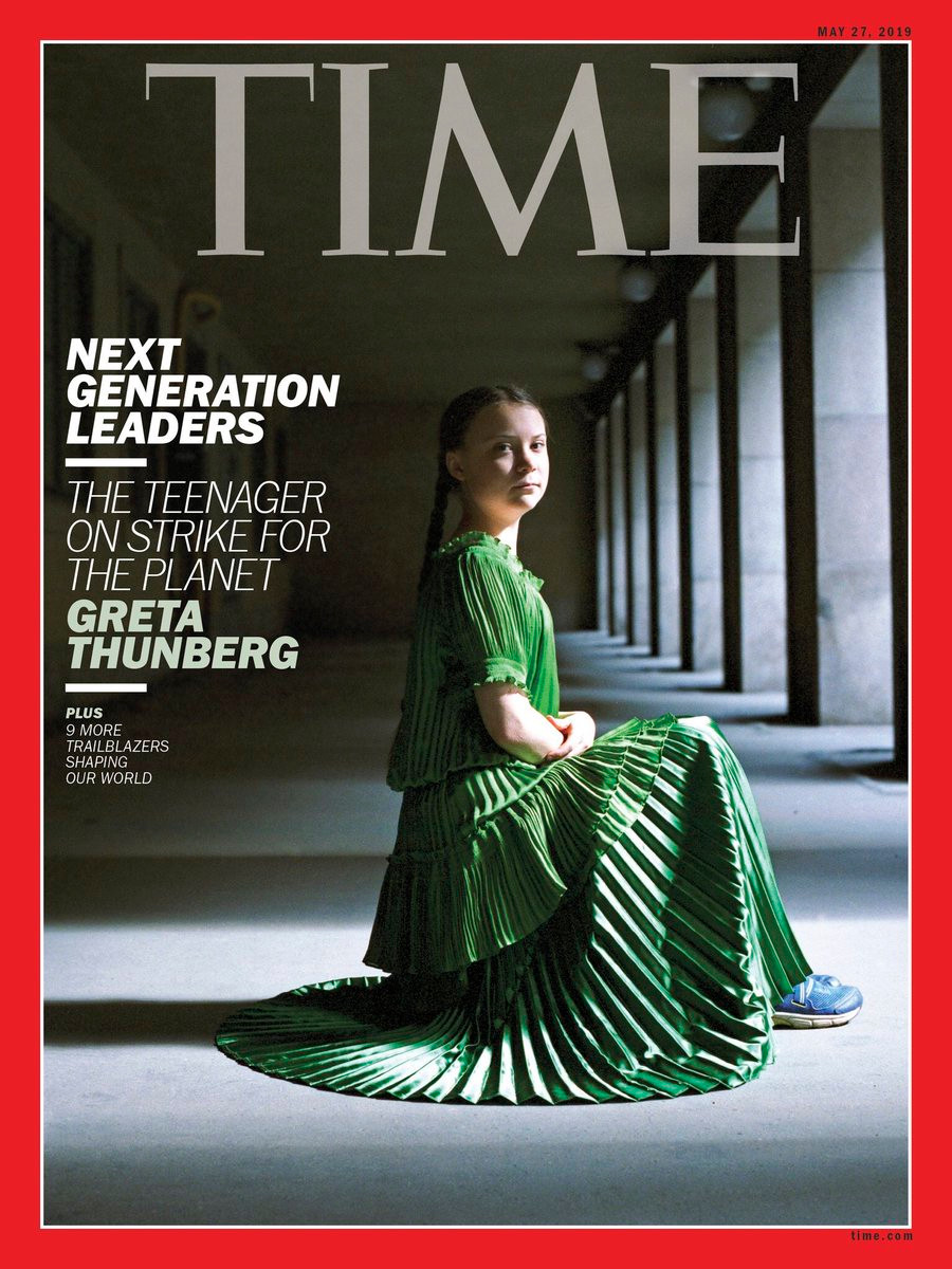Greta Thunberg on the May edition of Time Magazine