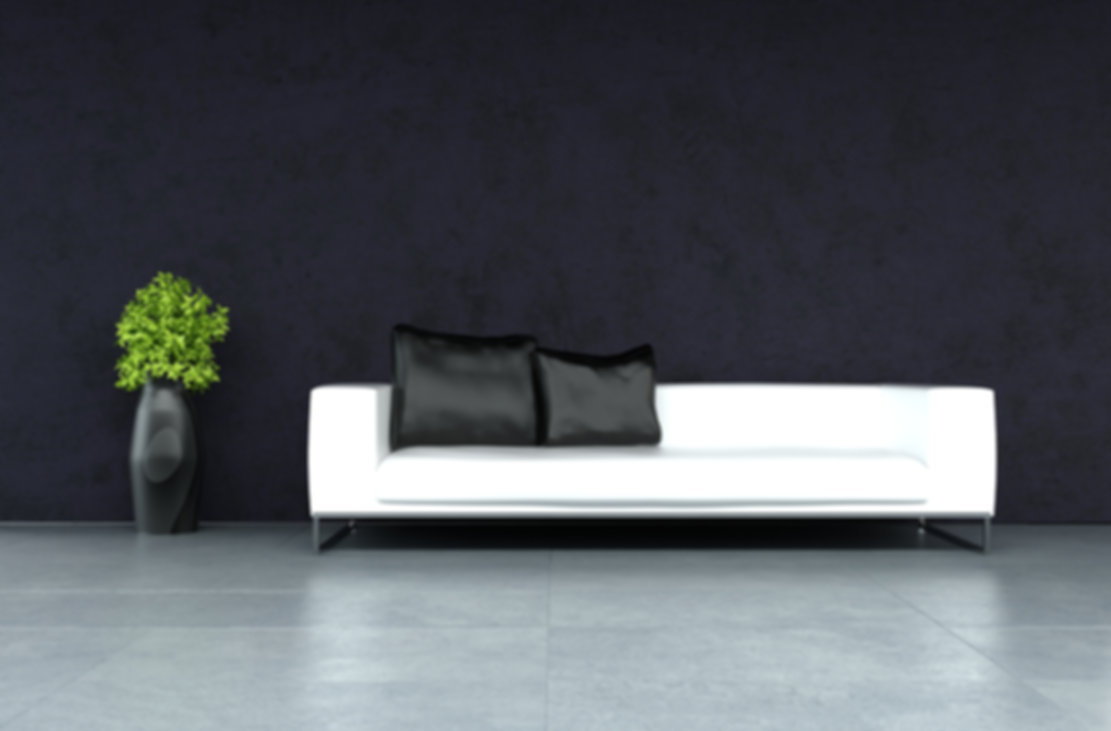 A 3D rendering of modern leather sofa.jp