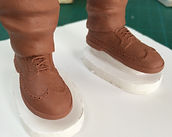Sculpted shoes, figure, sculpture, clay, Tiffany Monk