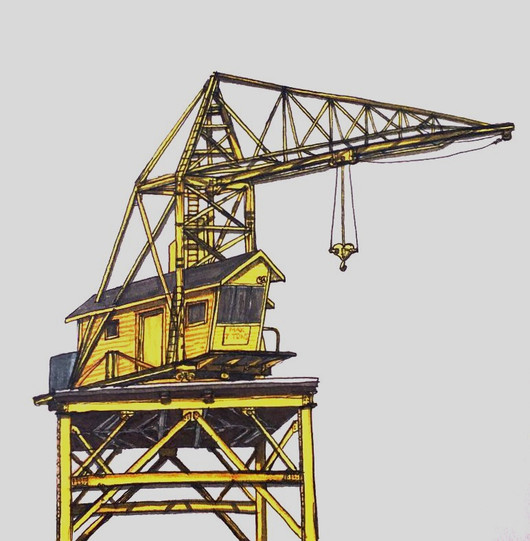 Old Yellow Railway Crane - 2018