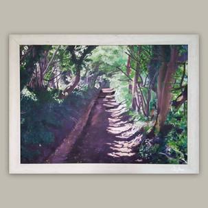 North Lyminge Lane Painting - 2007