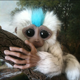 Primate model, lemur, prop, sculpture, figurine, Tiffany Monk
