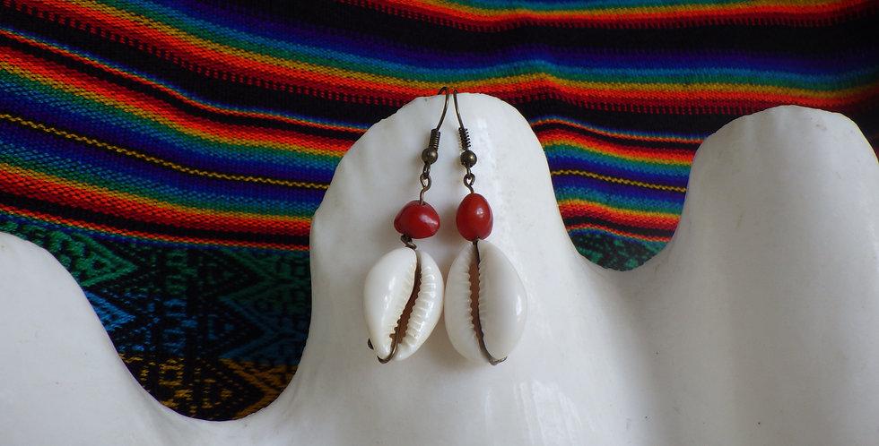 Boucle d'oreilles en graines