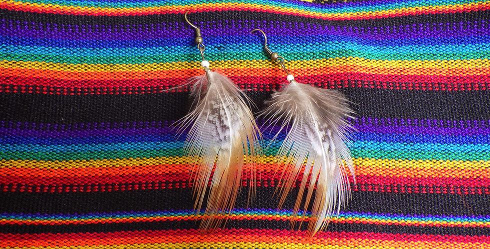 Boucle d'oreilles plumes