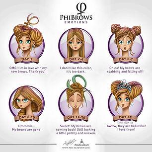 Phi Brow Emotions, Elizabeth Oakes Permanent Makeup, microblading, phibrows, emotions, permanent makeup, phimaster, phibrows artist, eipmu