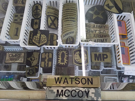 Muiticam unit Badges, Rank & Name tapes.
