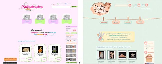 Calindoudou site internet webdesign avant après, koxintox graphiste illustrateur à Lisle sur Tarn, Caroline Pillet,création logo,illustration