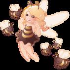 5-abeilles-et-fee-abeille-blonde-feeriz, koxintox graphiste illustrateur à Lisle sur Tarn, Caroline Pillet,création logo,illustration
