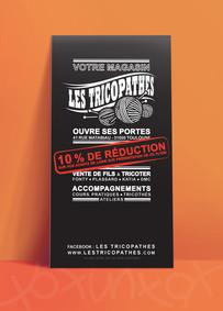 flyer Les Tricopathes, koxintox graphiste illustrateur à Lisle sur Tarn, Caroline Pillet,création logo,illustration