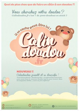 Calindoudou affiche , koxintox graphiste illustrateur à Lisle sur Tarn, Caroline Pillet,création logo,illustration