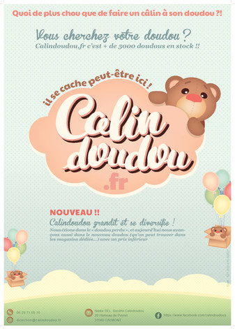 Calindoudou affiche , koxintox graphiste illustrateur à Lisle sur Tarn, Caroline Pillet,création logo,illustration