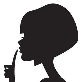 koxintox-lili.G-illustration-tete-silhouette, koxintox graphiste illustrateur à Lisle sur Tarn, Caroline Pillet,création logo,illustration