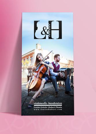 flyer L&H, koxintox graphiste illustrateur à Lisle sur Tarn, Caroline Pillet,création logo,illustration