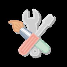 illustration icône outils Calindoudou