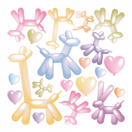 koxintox-ballons-animaux-stickers, koxintox graphiste illustrateur à Lisle sur Tarn, Caroline Pillet,création logo,illustration