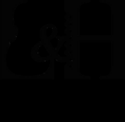 conception graphique et réalisation de l'identité visuelle et de la carte de visite du duo L&H des musiciens Louise Grévin et Hubert Plessis, koxintox graphiste illustrateur à Lisle sur Tarn, Caroline Pillet,création logo,illustration