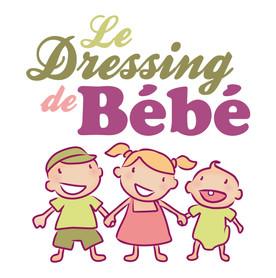 Logo Le Dressing de Bébé, koxintox graphiste illustrateur à Lisle sur Tarn, Caroline Pillet,création logo,illustration