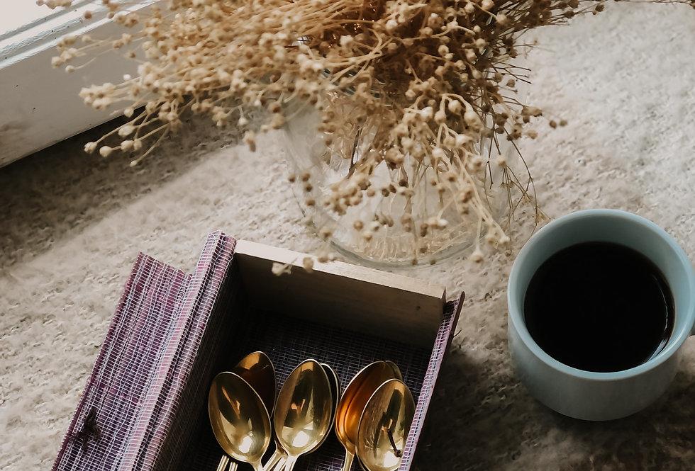 Personnalisation de cuillère à moka dorée (lire description)