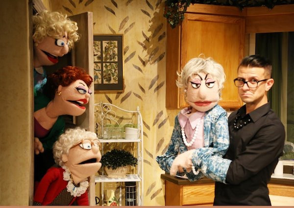 Michael LaMasa and the cast of That Golden Girls Show - A Puppet parody