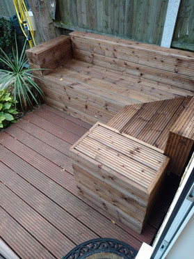 Softwood decking chair