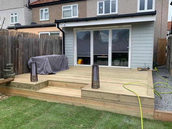 Softwood decking