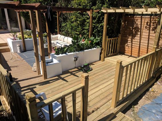 Softwood decking & pergolas