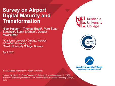 Survey on airport digital maturity and transformation
