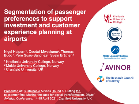 Segmentation of passenger preferences to support airport investment and customer experience planning
