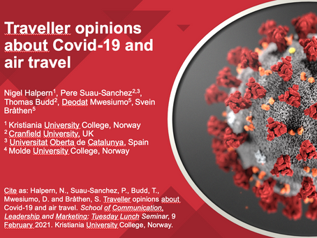 """Study on """"Traveller opinions about Covid-19 and air travel"""""""
