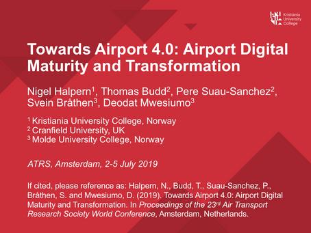ATRS presentation on Airport Digital Maturity and Transformation