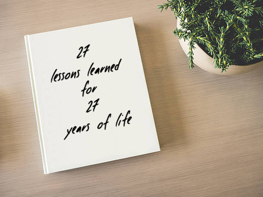 27 Life Lessons