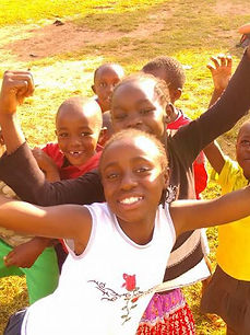 Smily kids in Kenya