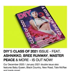 Assisted Ashnikko cover story for DIY Magazine