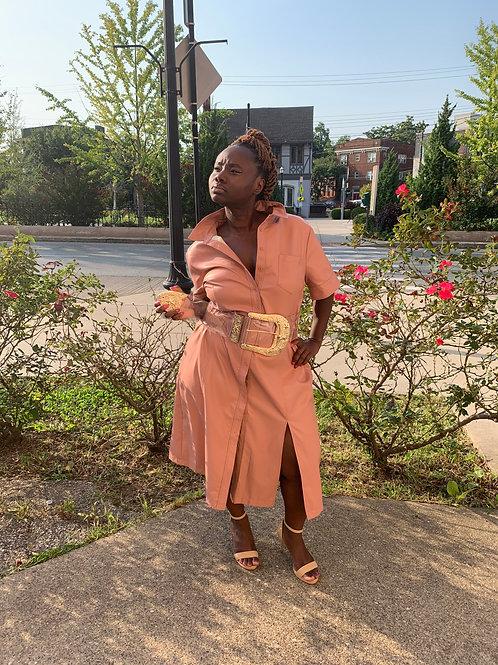 Rose Quartz Vegan Leather Dress