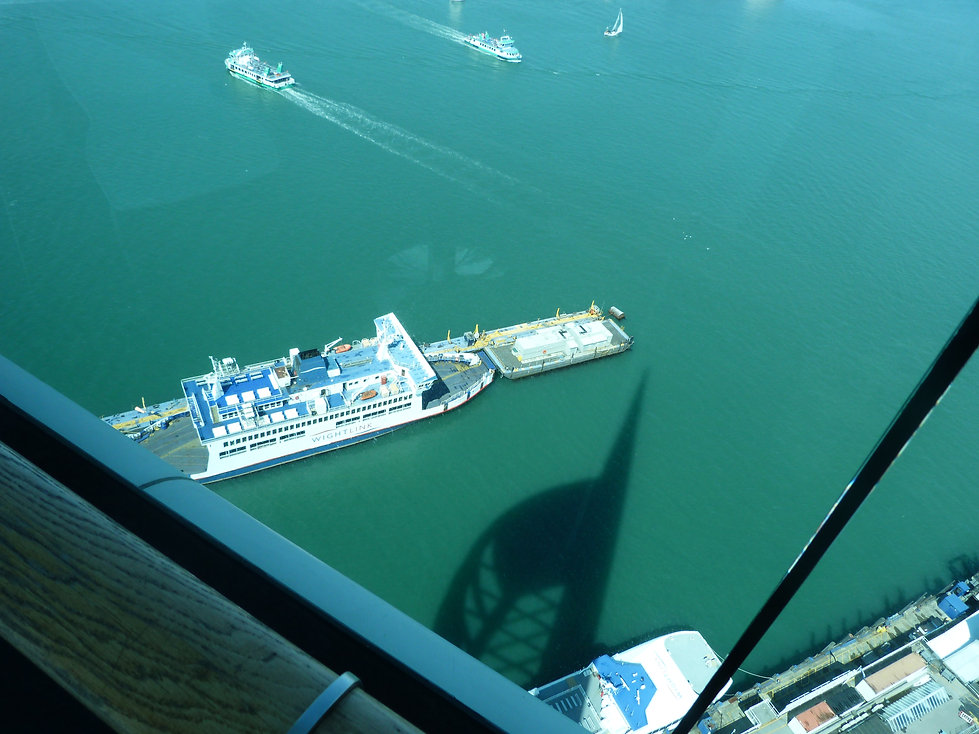 Isle of wight ferry leaving Portsmouth for Ryde