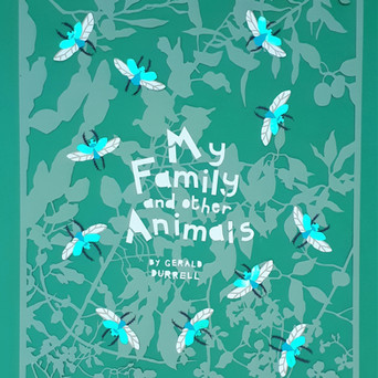 Personal project to design a book cover for 'My Family and other Animals'