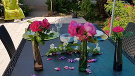 Déjeuner fleuri à Nuances bretonnes