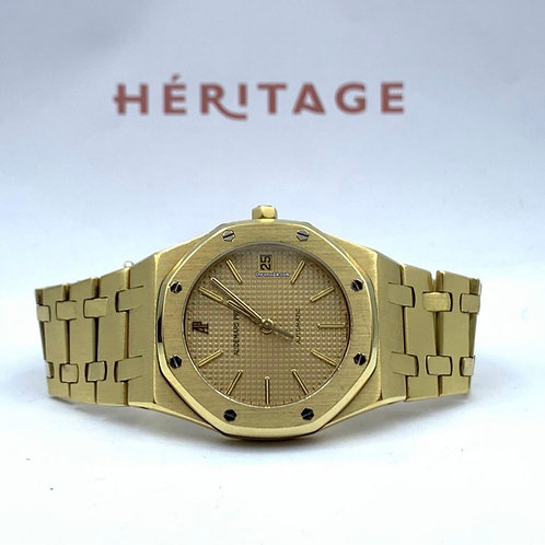 Audemars Piguet Royal Oak 35mm yellow gold gray dial from 1984 with extract/arch