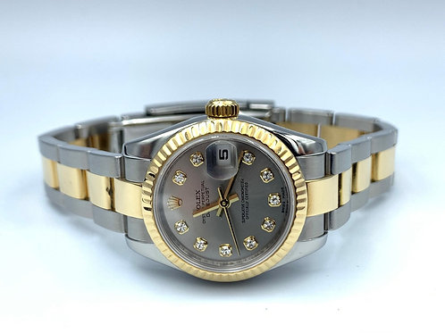Rolex Lady-Datejust 26mm gold/steel diamond dial 2008 box & papers