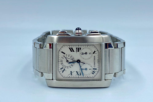 Cartier Tank Française Chronoflex big size from 2003 box & papers