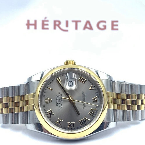 Rolex Datejust 36mm gold/steel jubilee 2012 box & papers